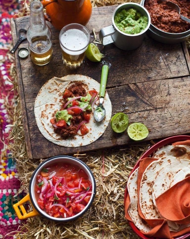 Tex-Mex beef burritos