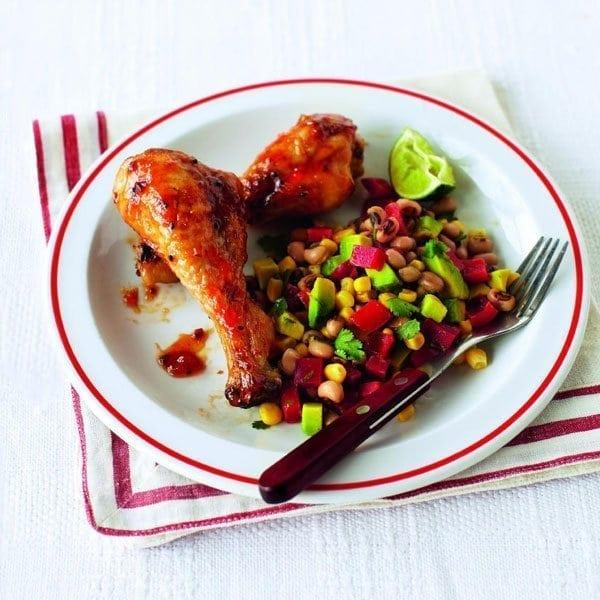 Chicken with a salsa salad