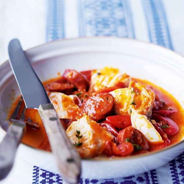 Spanish cod and chorizo stew