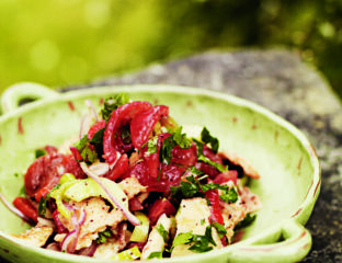Roasted red pepper fattoush