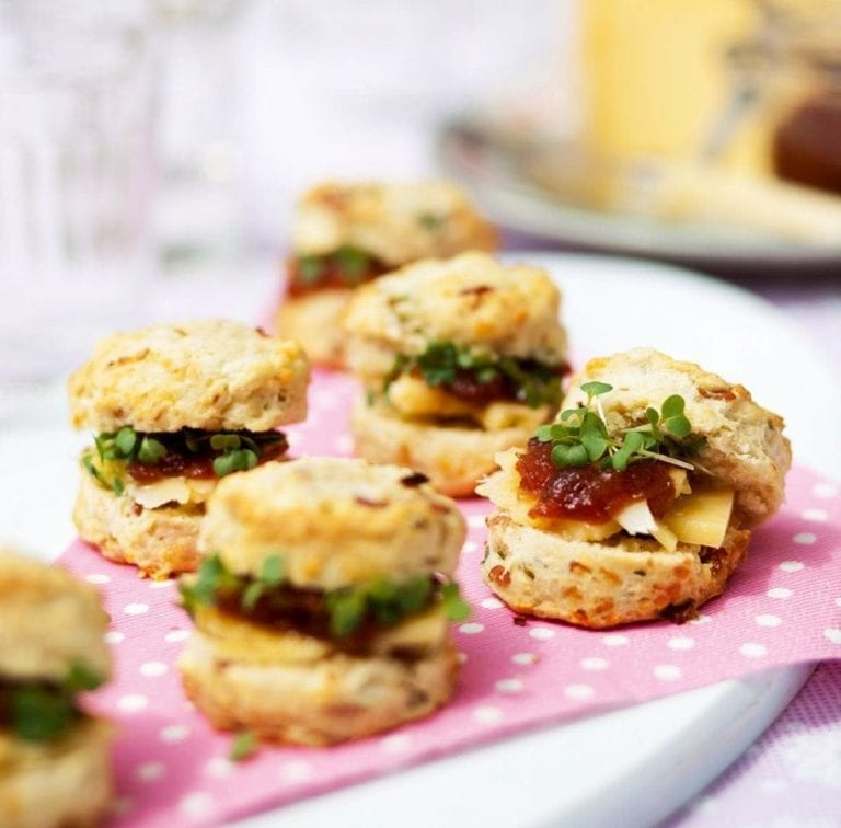 Spring onion and bacon scones