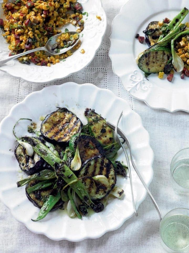 Chargrilled summer vegetables