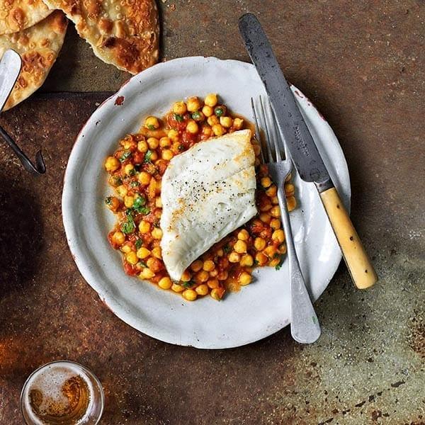 Channa masala with white fish