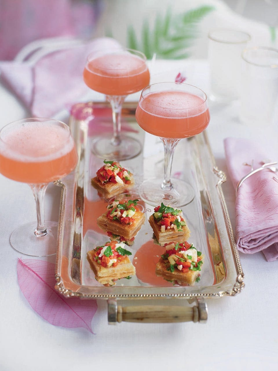 Champagne rhubarb cocktail | delicious. magazine