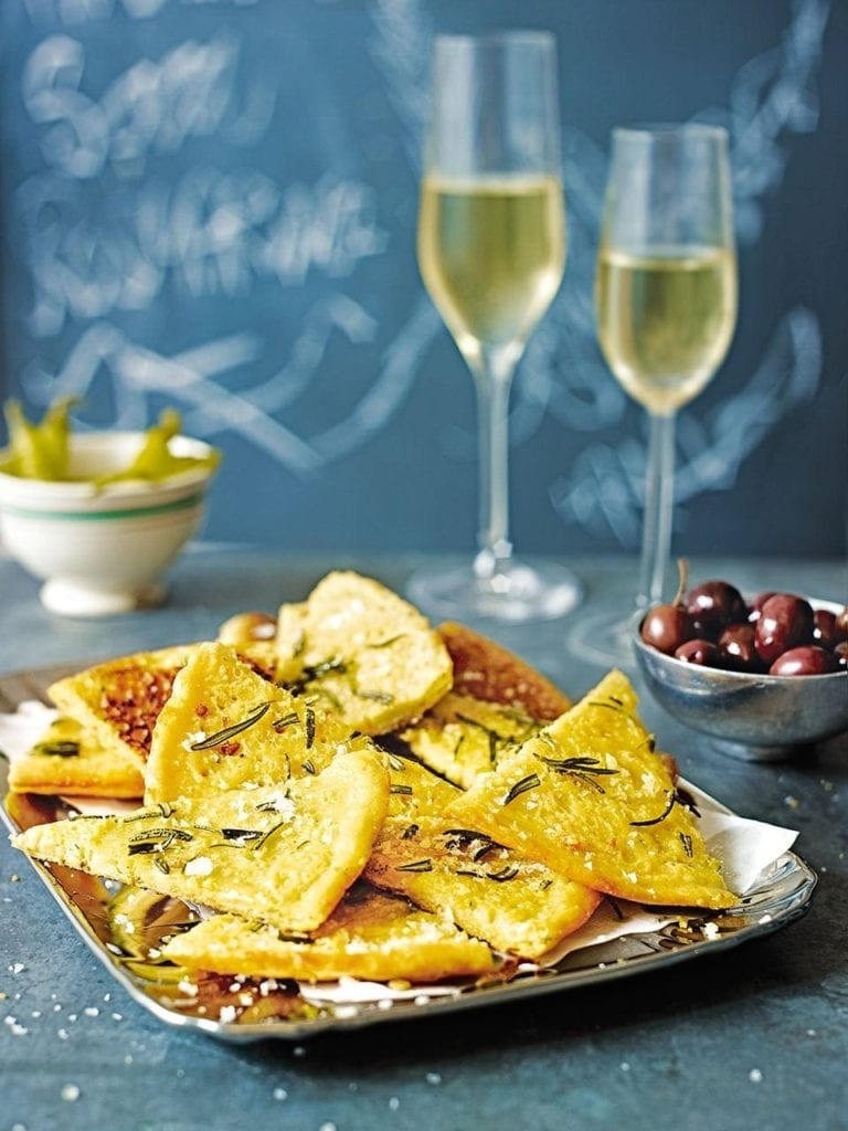 Farinata with rosemary and olive oil