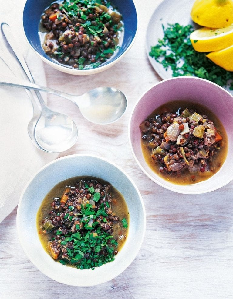 Lentil and herb soup