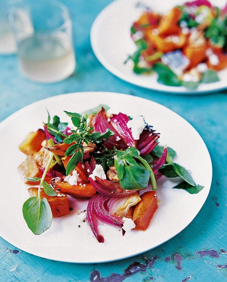 Sweet potato, rocket and goats cheese salad