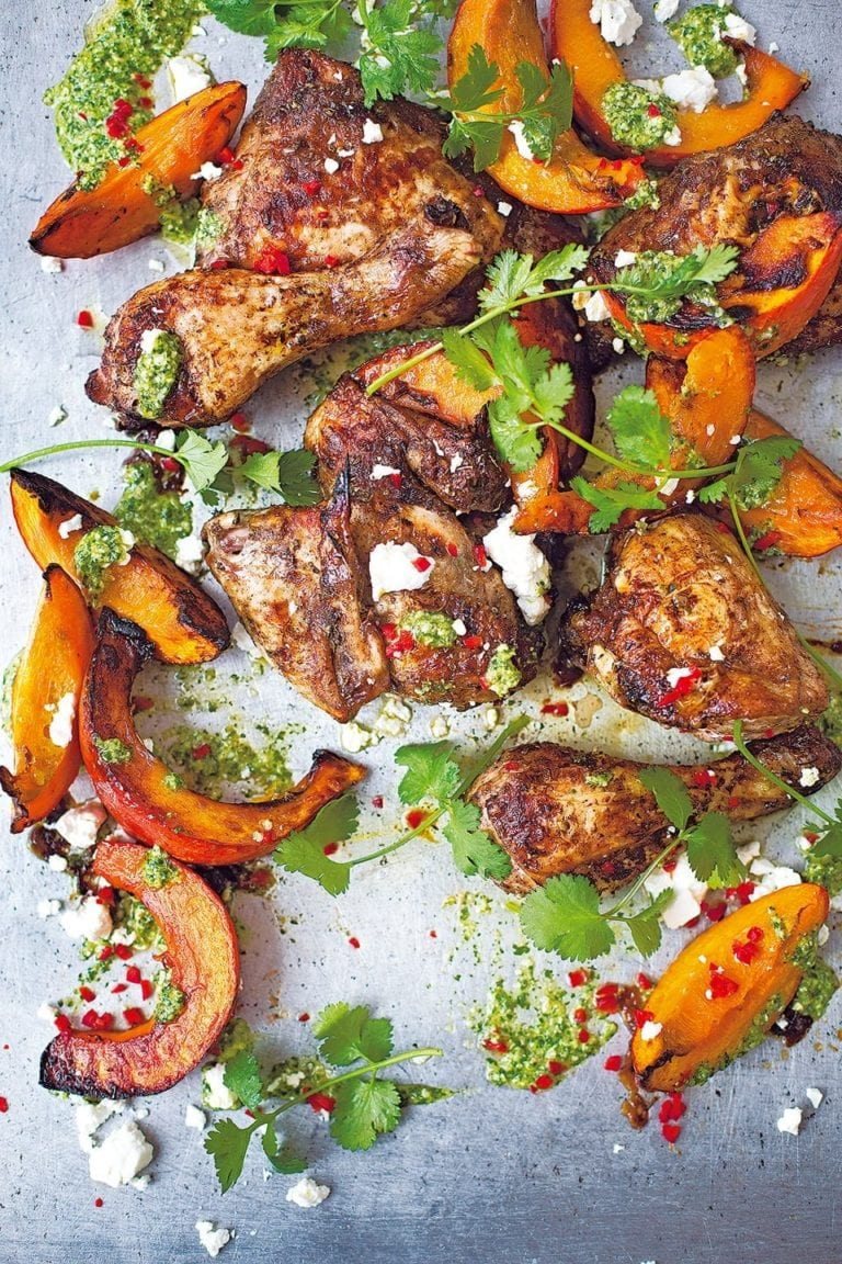 Diana Henry's Mexican chicken and pumpkin with pepita pesto