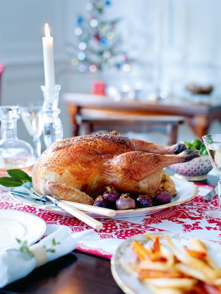 Classic turkey with sausagemeat stuffing and buttered chestnuts