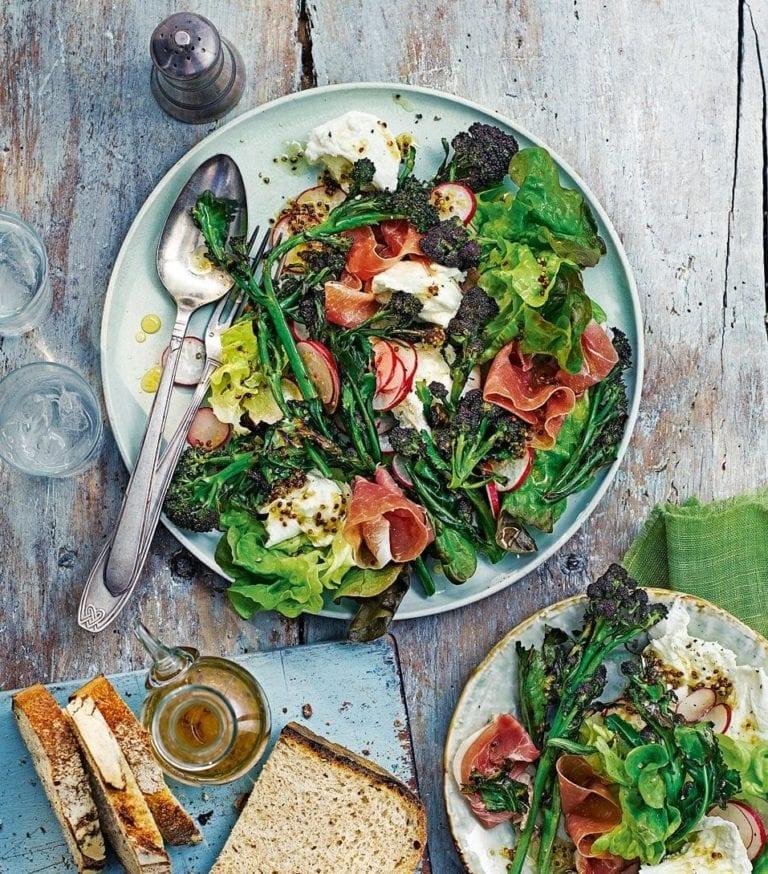 Quick parma ham and mozzarella salad