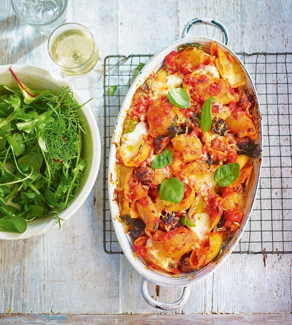 Sausage and tomato pasta | delicious. magazine