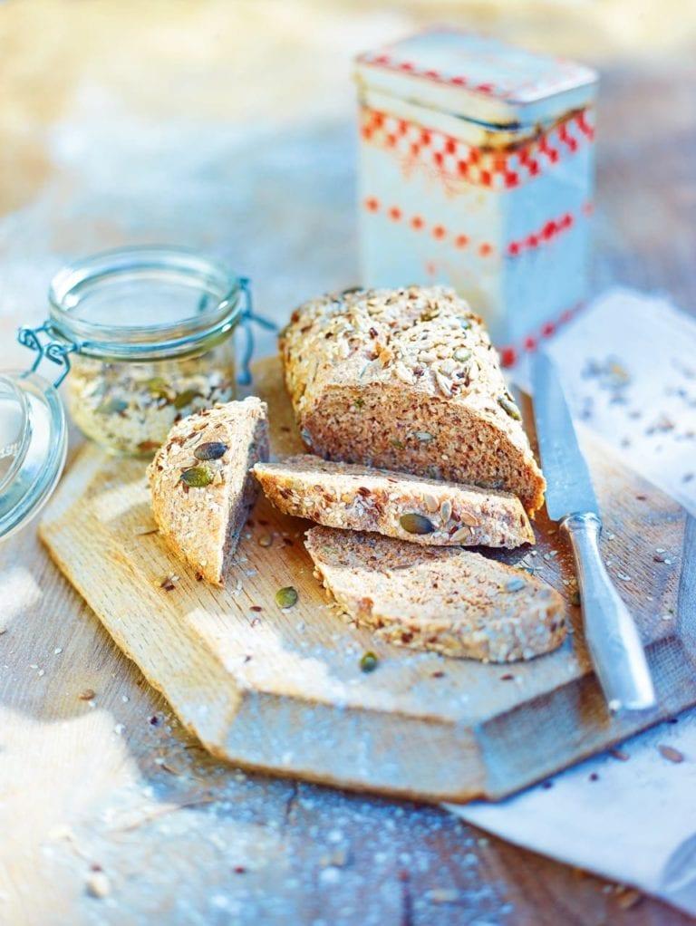 Multi-seed brown bread