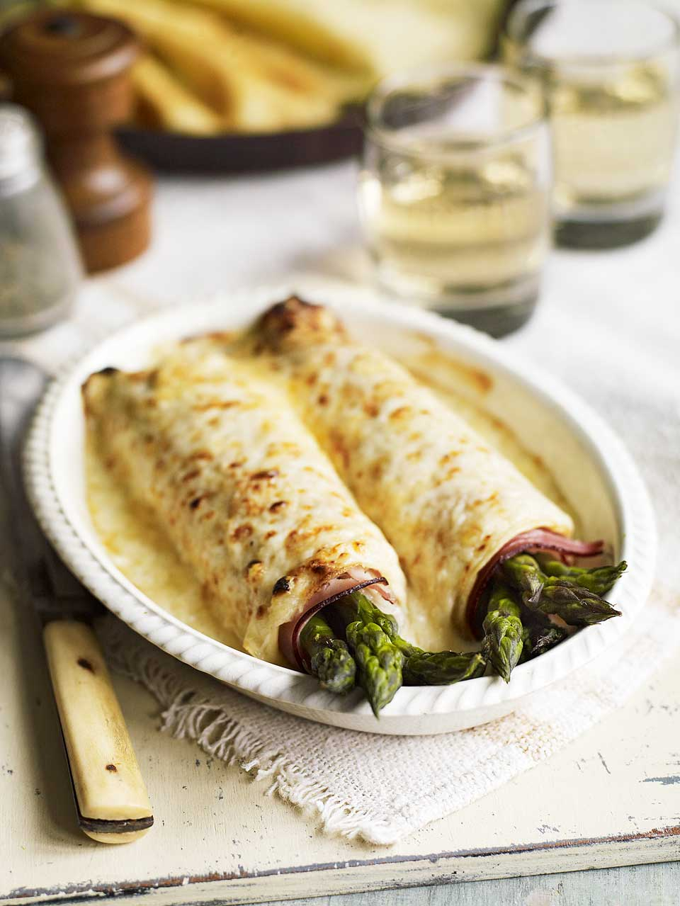 Asparagus And Ham Pancakes Delicious Magazine