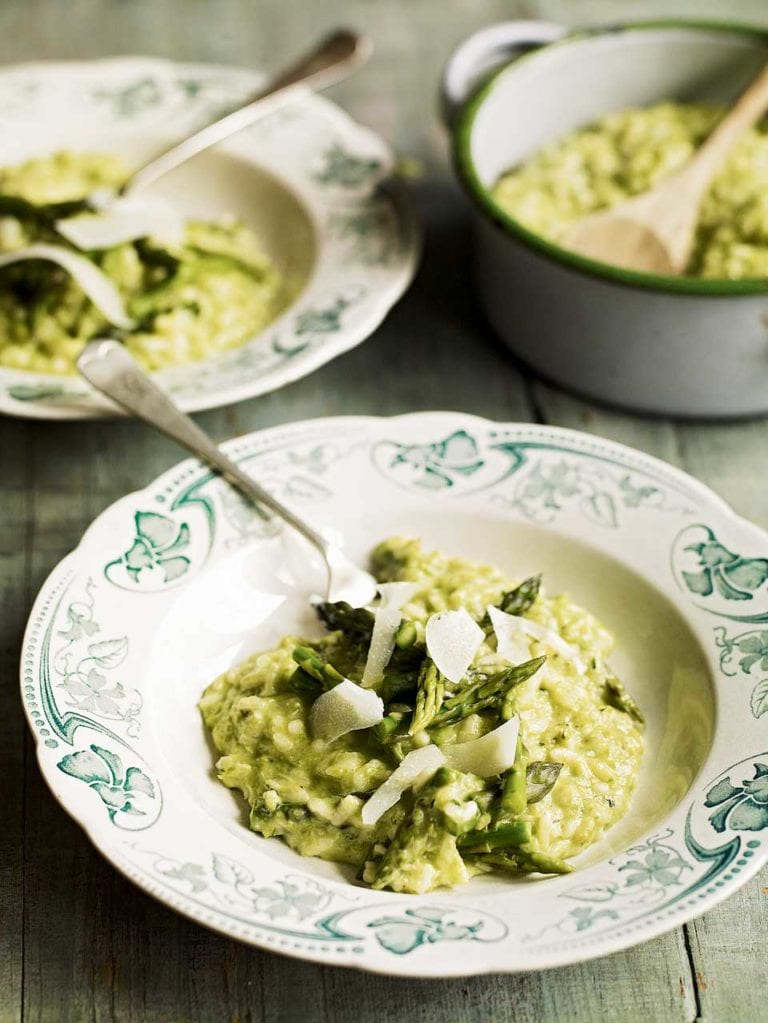 Asparagus, pecorino and lemon risotto