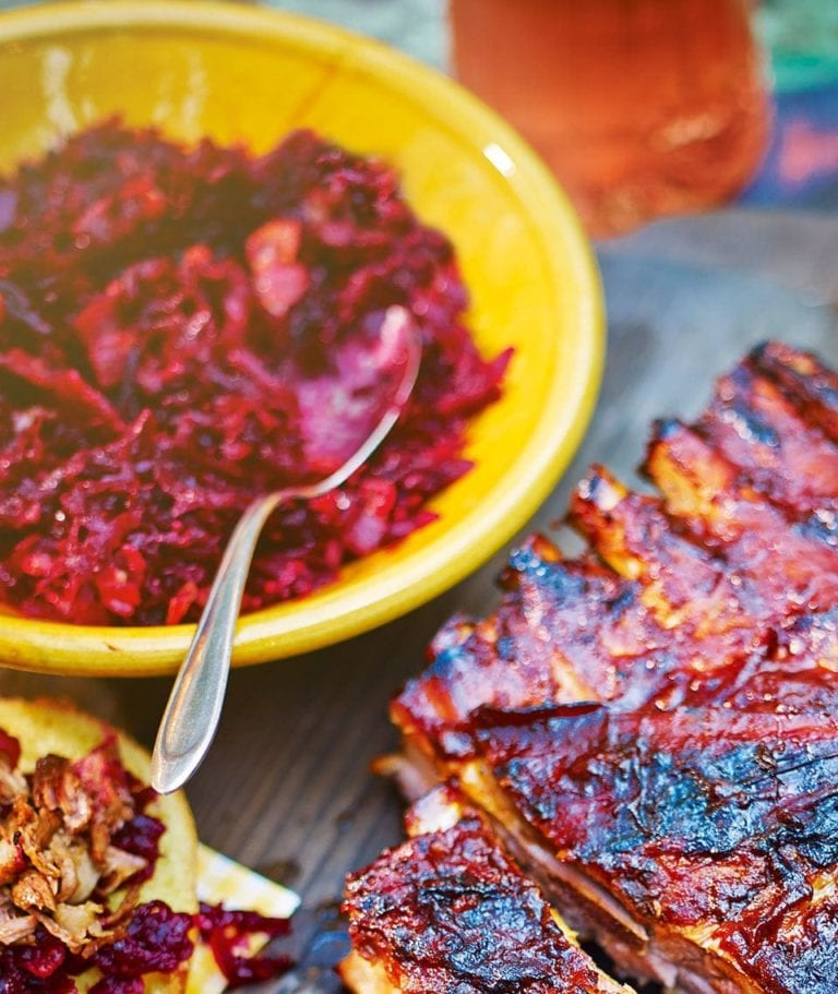 Beetroot and smoked bacon relish