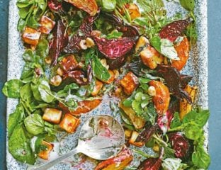 Paneer and roasted beet salad