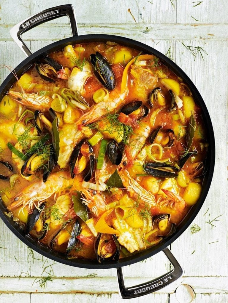 Bouillabaisse with fennel and bay