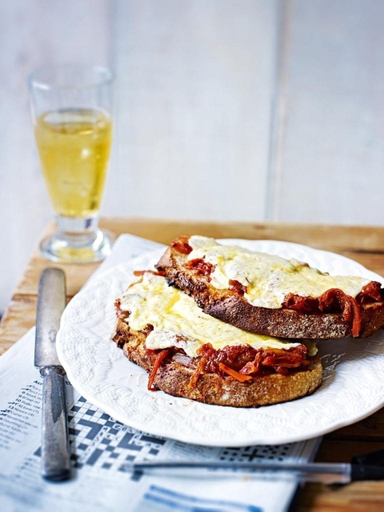 Kimchi cheese on toast