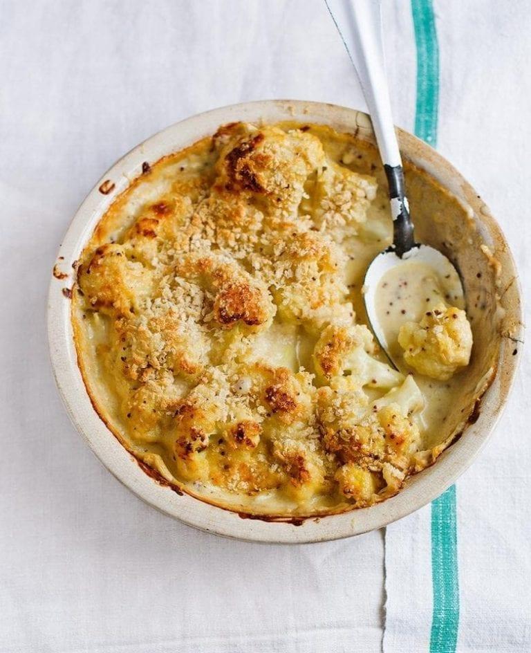 Healthier cauliflower cheese
