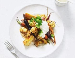 Moroccan roasted vegetables with couscous