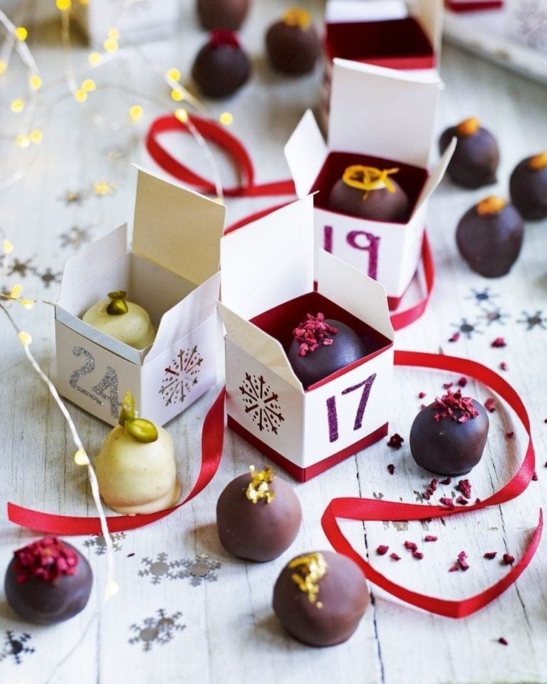 Chocolate truffle Advent calendar