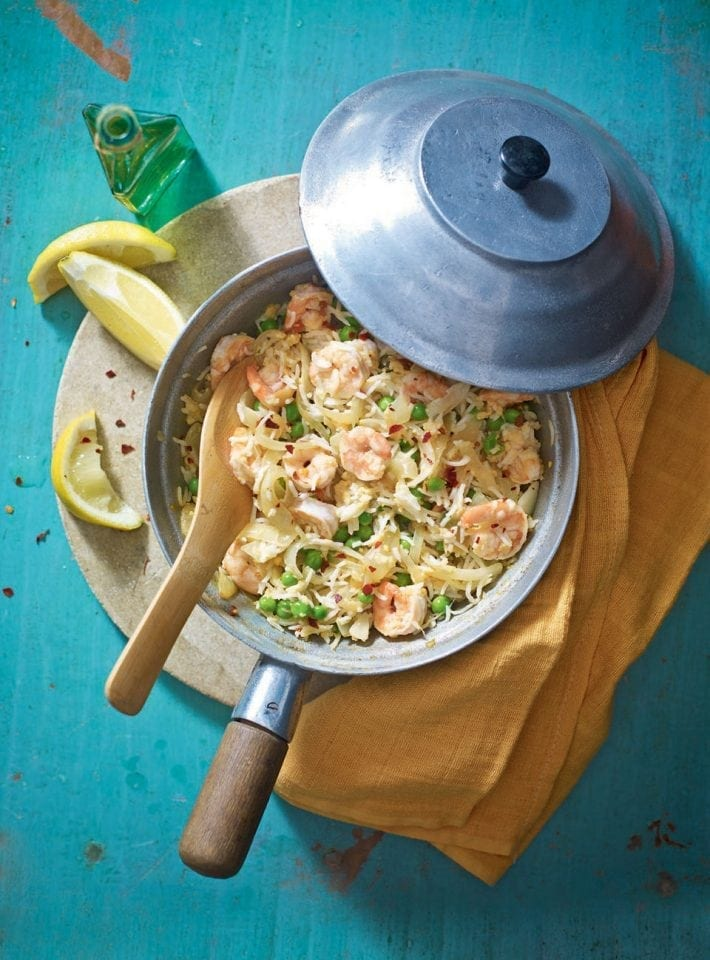Prawn egg-fried rice