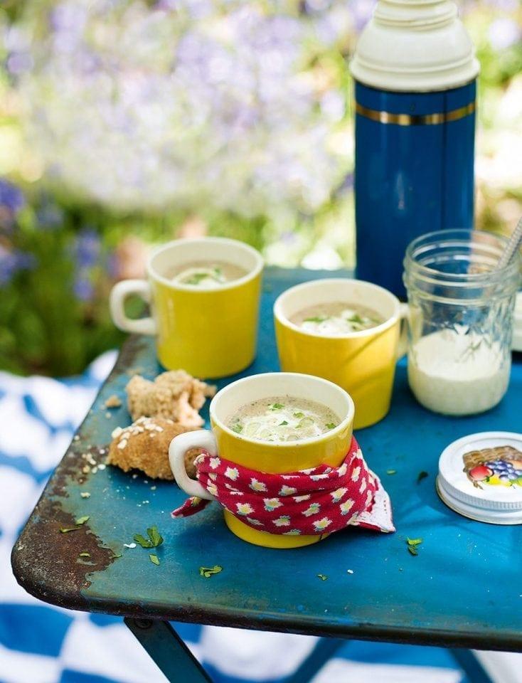 Creamy morel soup