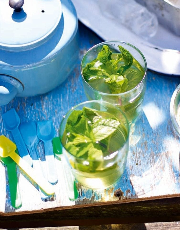 North African-style mint tea