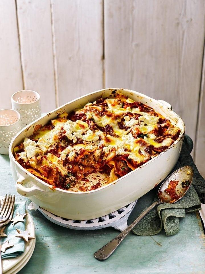 The big meatball lasagne