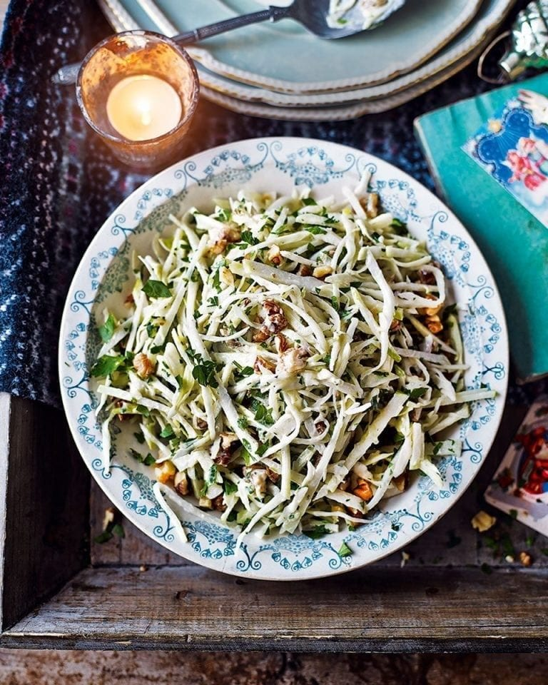 Kohlrabi Cabbage And Apple Slaw Recipe Delicious Magazine
