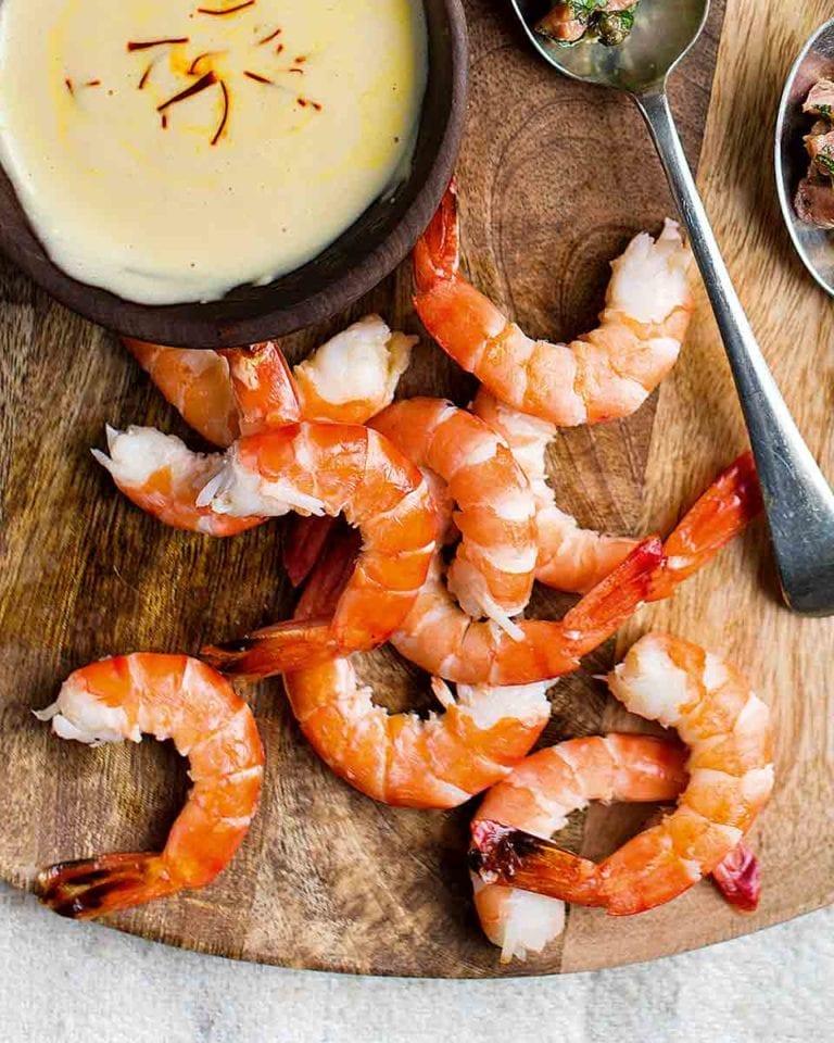 King prawns with provençale rouille