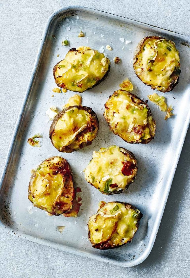 Healthier loaded potato skins