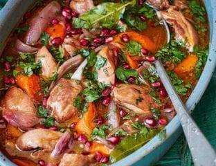 Pomegranate and chicken stew