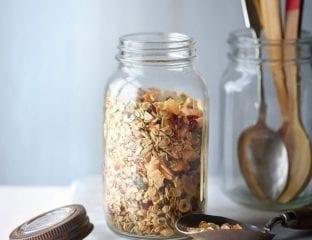 Low-sugar coconut granola