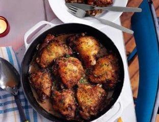 Valentine Warner's chicken thighs with port and madeira