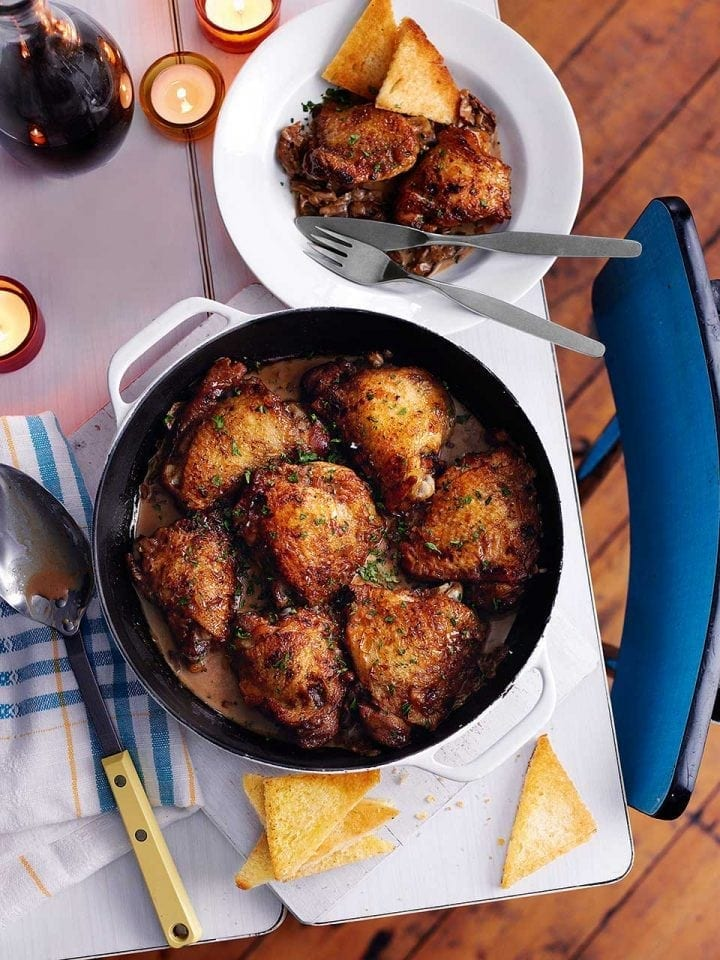 Valentine Warner's chicken thighs with port and madeira