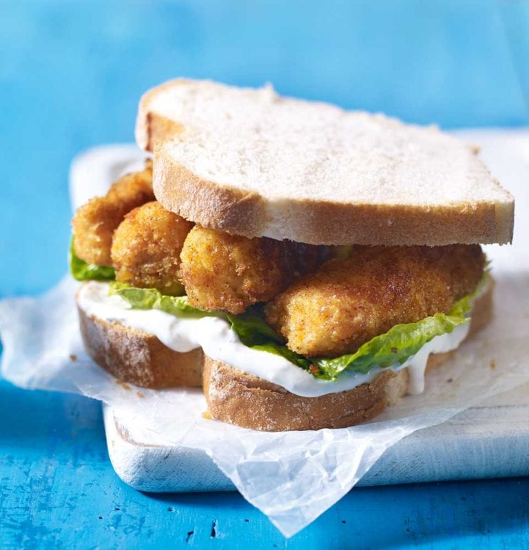 Quick and easy fish finger sandwich