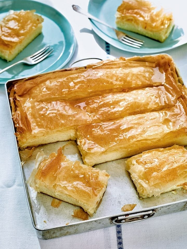 Lisa Faulkner's Greek custard tart