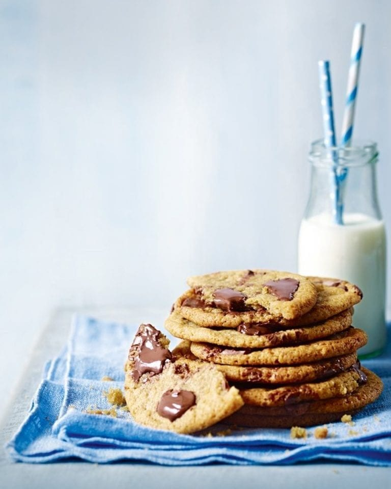 Seriously gooey chocolate chip cookies