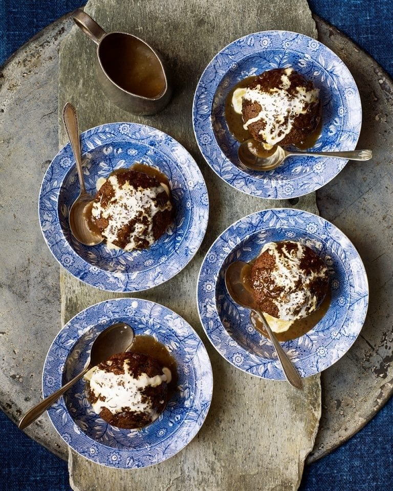 Ginger and brandy puddings