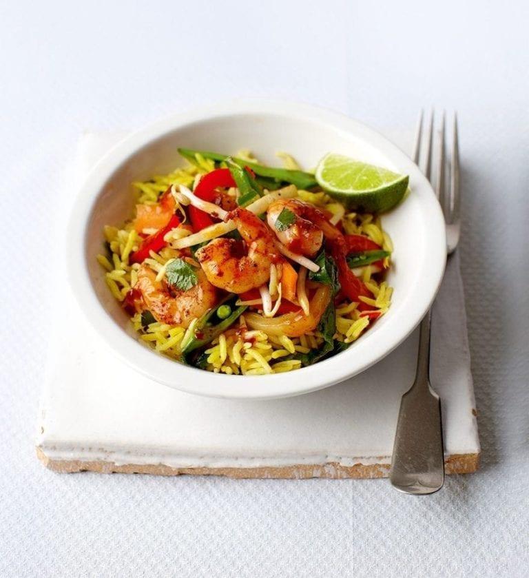 Cheat's Thai prawn stir-fry