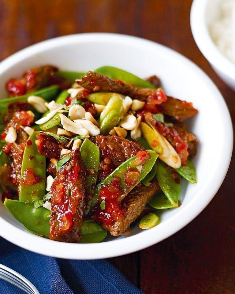 Cheat's Thai chilli beef | delicious. magazine
