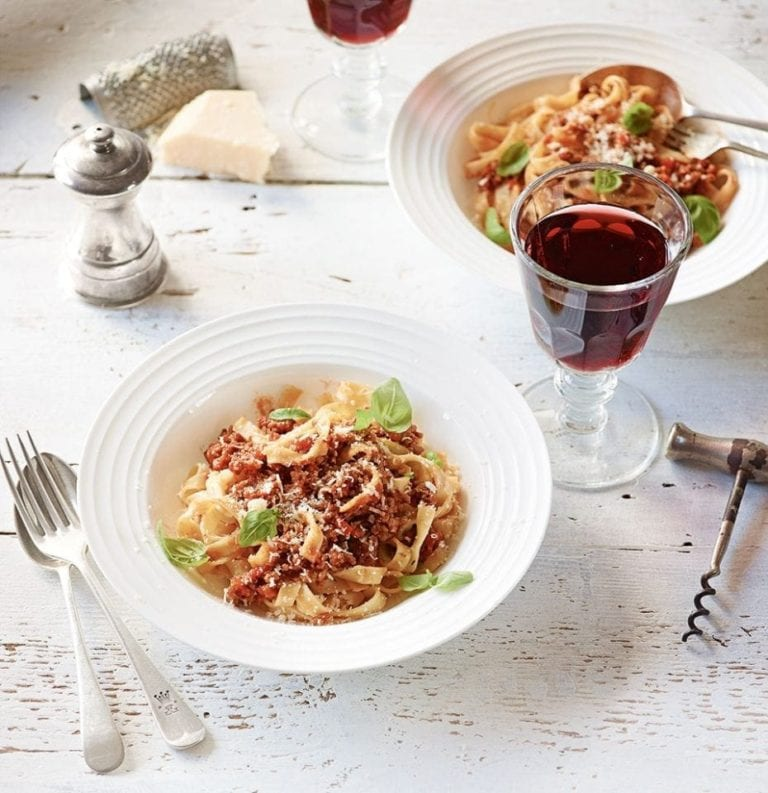 Easy pork and sherry tagliatelle