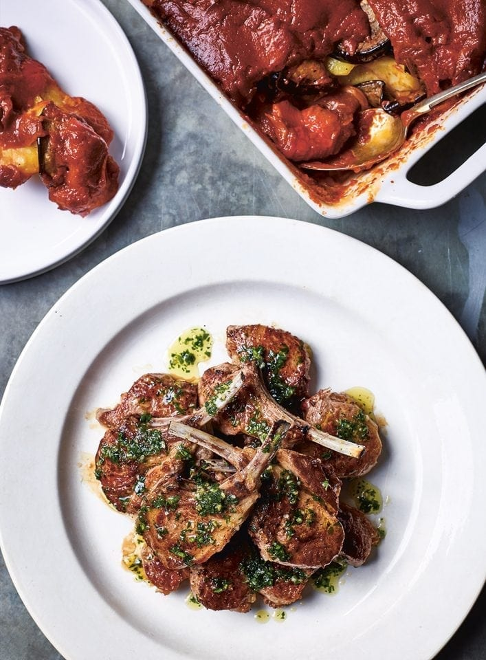 Lamb cutlets with tumbet