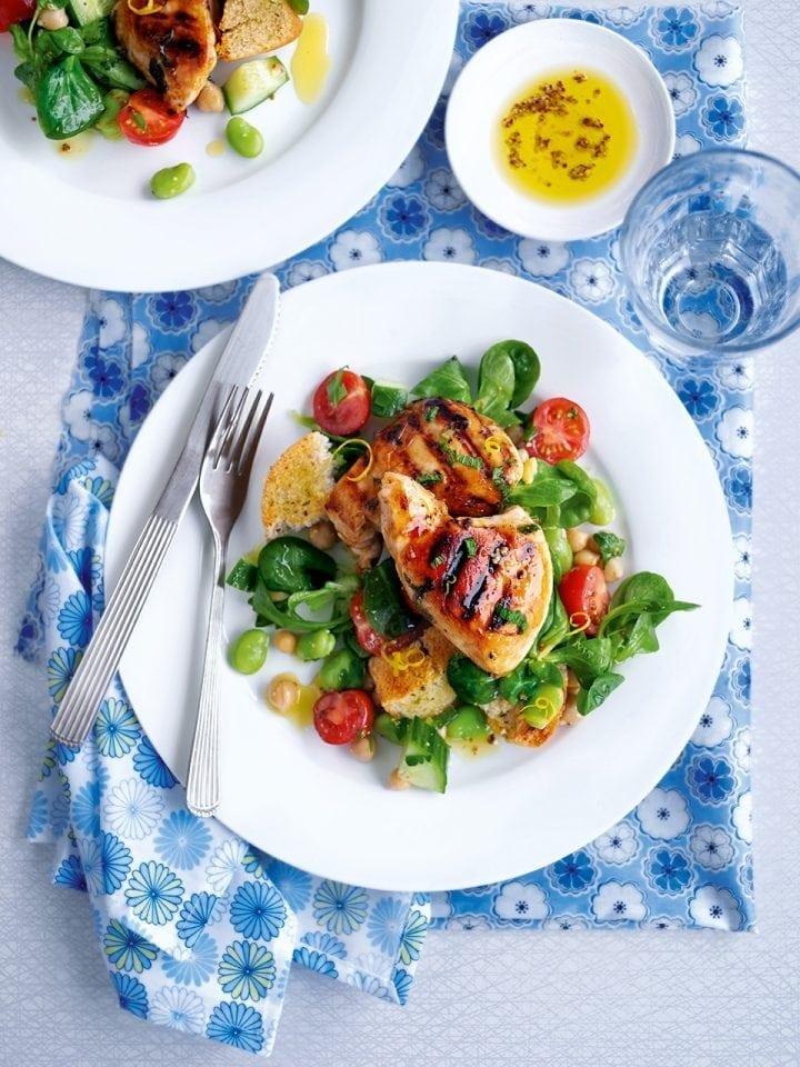 Quick sticky chicken salad