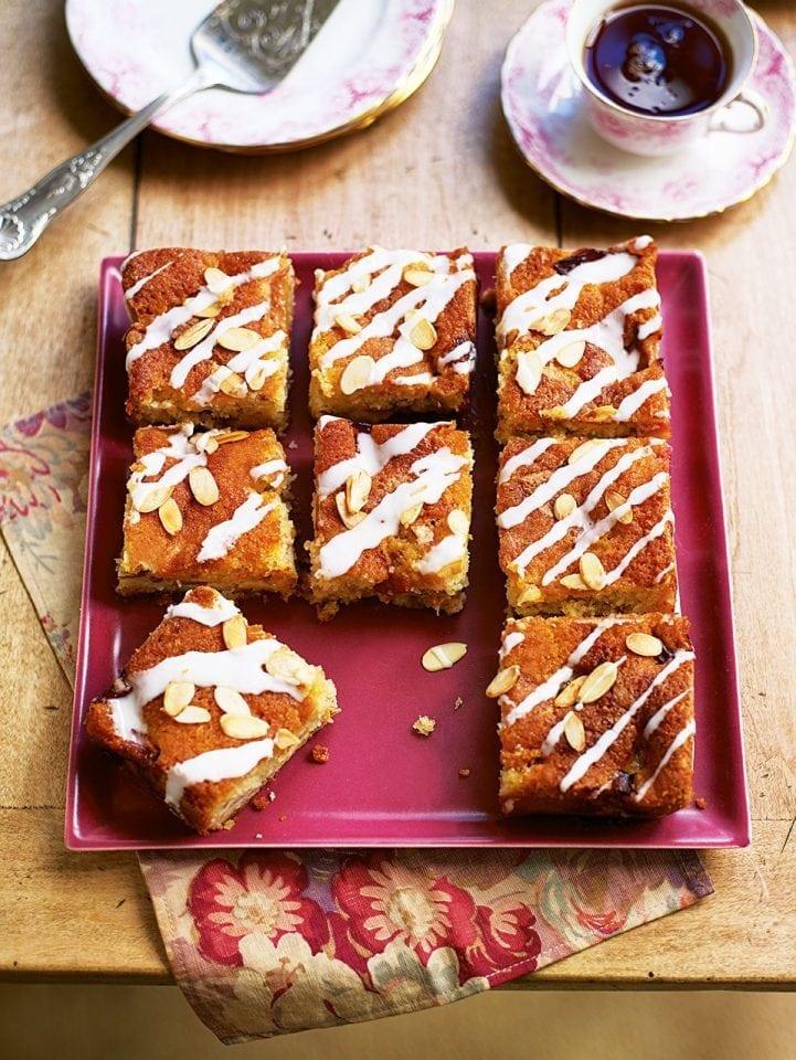 Plum and almond sponge cake