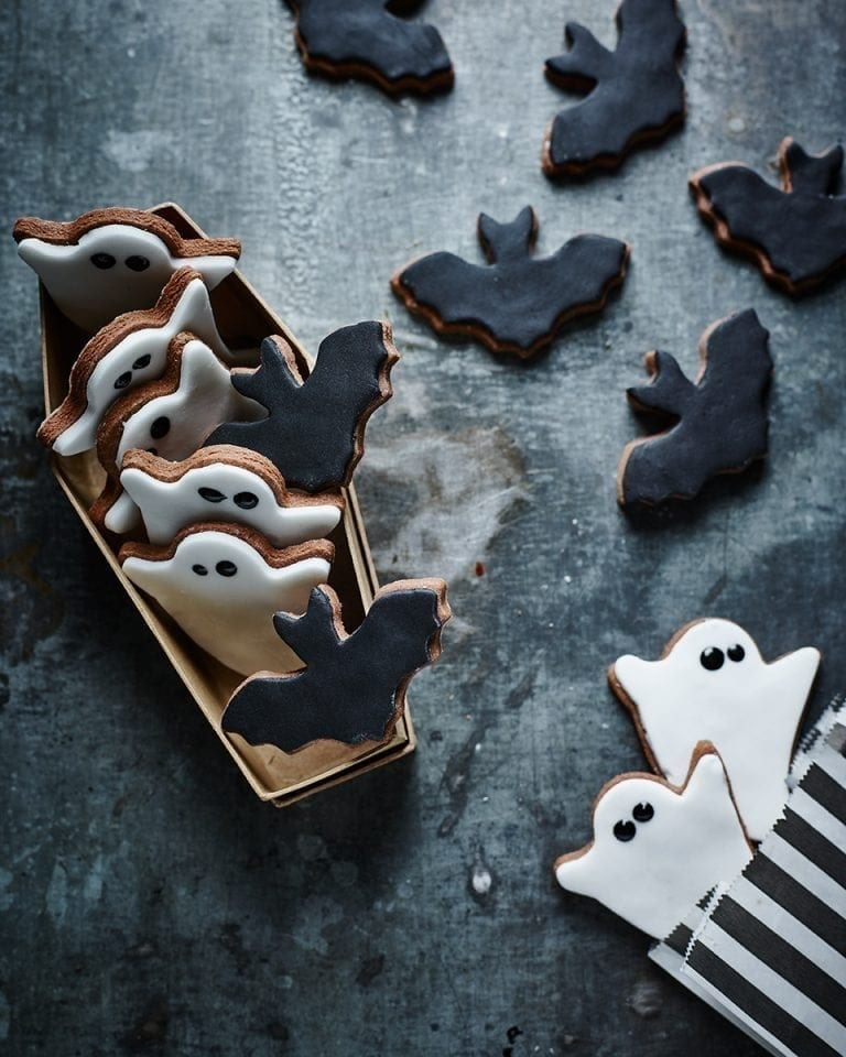 Halloween chocolate cookies