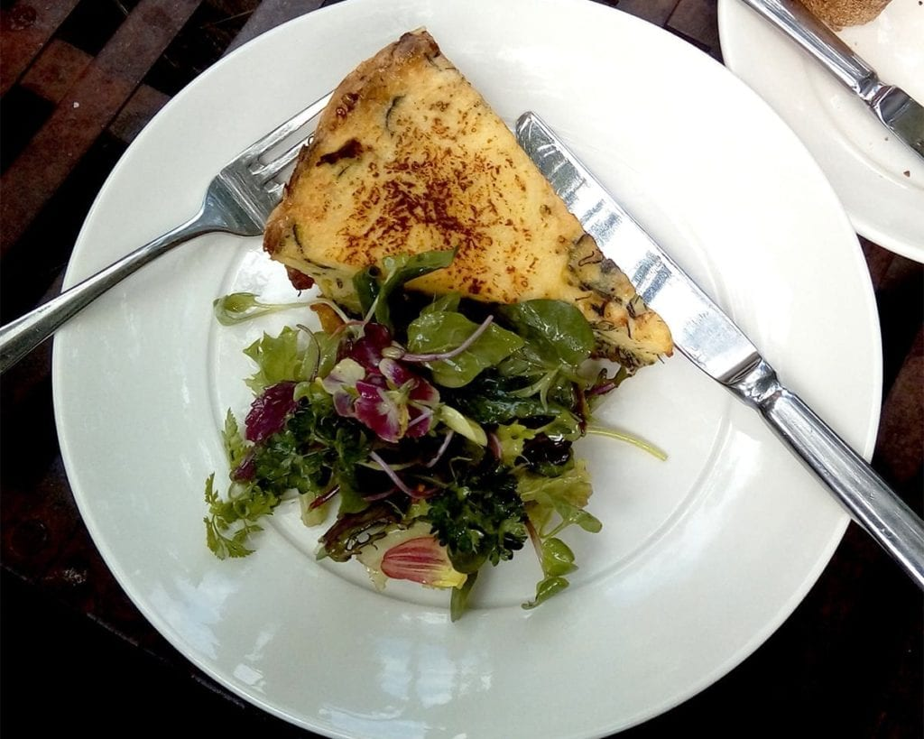 Courgette frittata at the Chapel Bakery