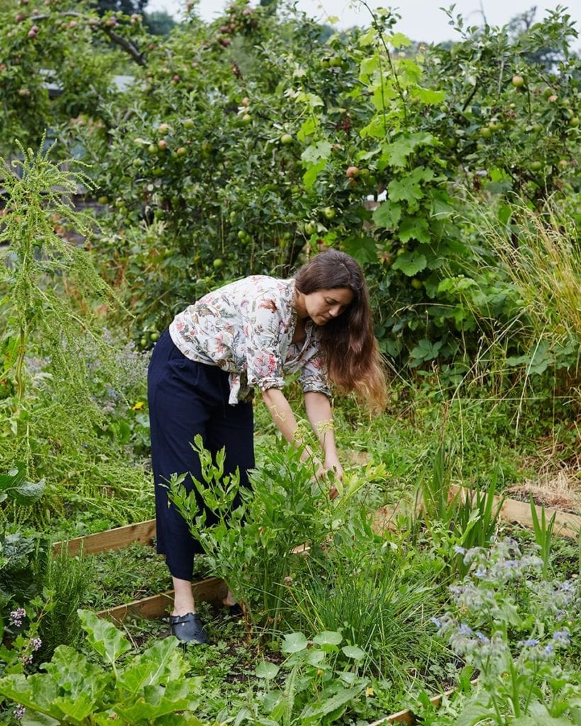 Image of Olia in her allotment