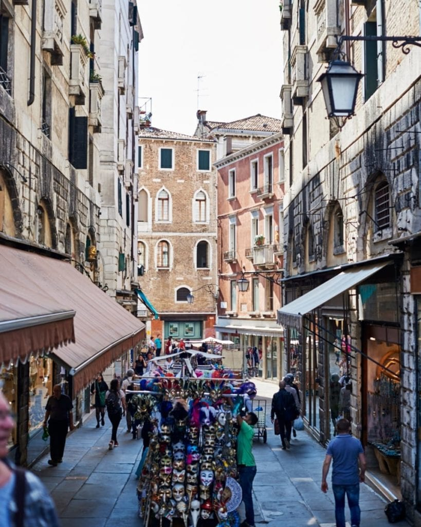 Image of streets in Venice